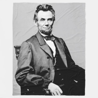 ABRAHAM LINCOLN FLEECE BLANKET