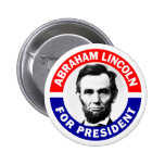 Abraham Lincoln For President Pinback Button