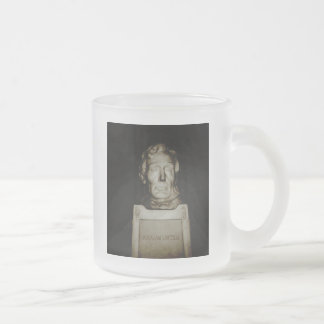 Abraham Lincoln Frosted Glass Coffee Mug