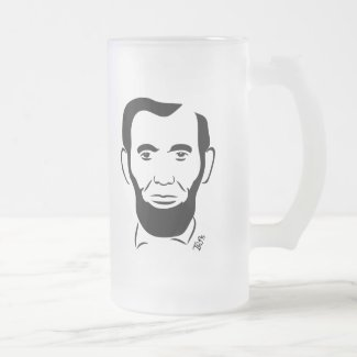 Abraham Lincoln Frosted Mug
