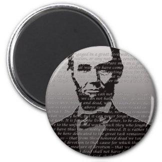 Abraham Lincoln Gettysburg Address 2 Inch Round Magnet