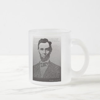 Abraham Lincoln Gettysburg Address Frosted Mug