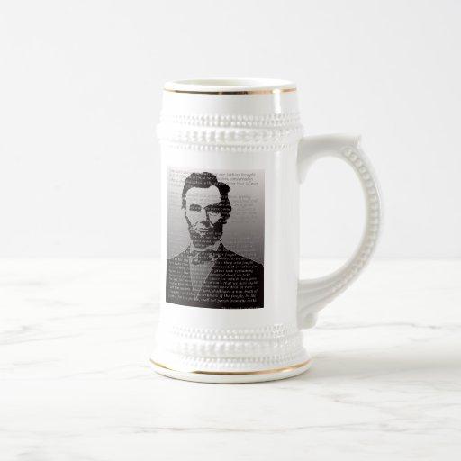 Abraham Lincoln Gettysburg Address 18 Oz Beer Stein