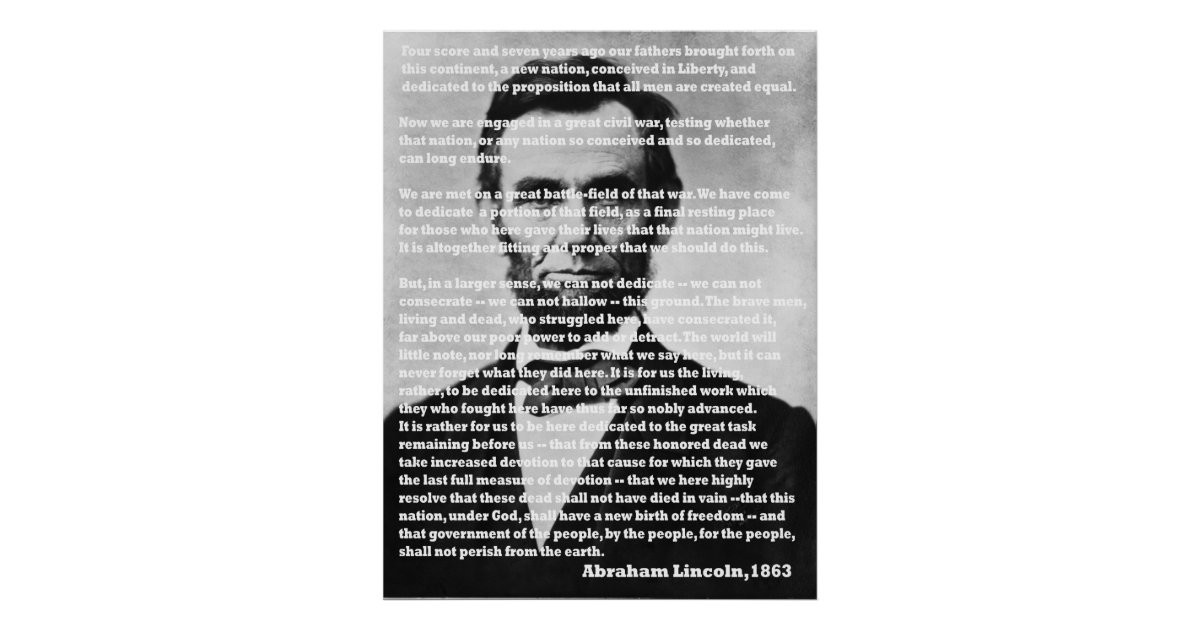 the moving notion of abraham lincolns gettysburg address Abraham lincoln, the president of the united states of america, making his famous 'gettysburg address' speech at the dedication of the gettysburg national cemetery during the american civil war.