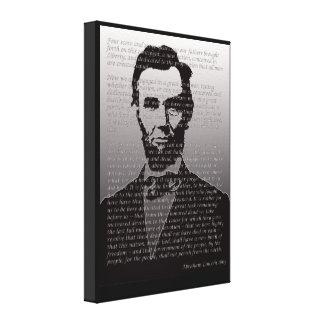 Abraham Lincoln Gettysburg Address Portrait Print Stretched Canvas Print