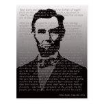 Abraham Lincoln Gettysburg Address Postcard
