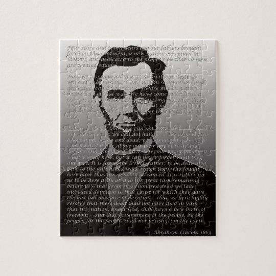 Abraham Lincoln  & Gettysburg Address Puzzle