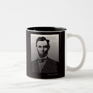 Abraham Lincoln Gettysburg Address Two-Tone Coffee Mug