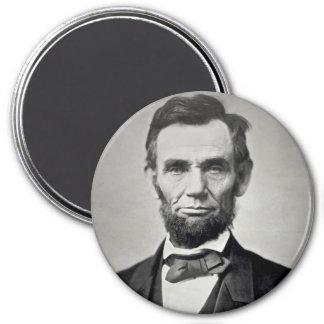 Abraham Lincoln Gettysburg Portrait 3 Inch Round Magnet