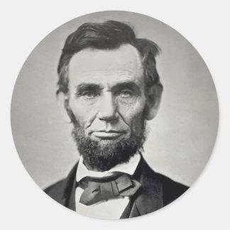 Abraham Lincoln Gettysburg Portrait Classic Round Sticker