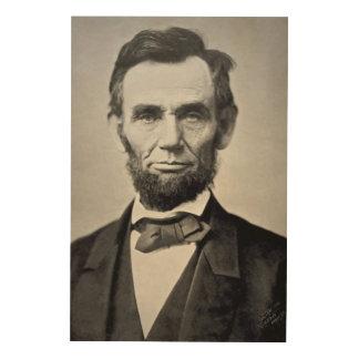 Abraham Lincoln Gettysburg Portrait Wood Print