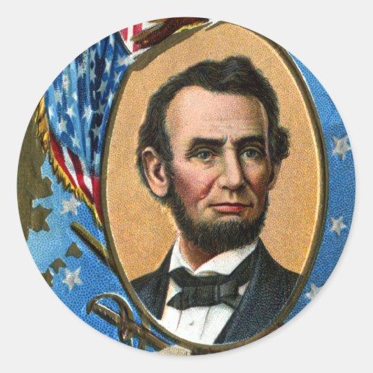 Abraham Lincoln Giving Gettysburg Address Classic Round Sticker