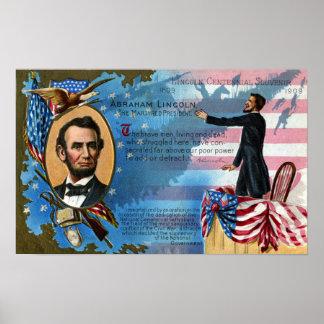 Abraham Lincoln Giving Gettysburg Address Poster