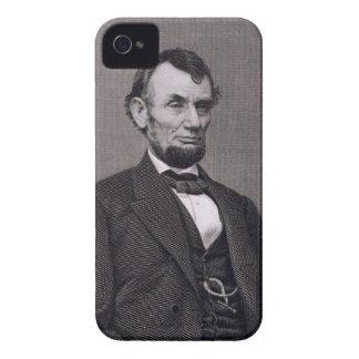 Abraham Lincoln, grabado de una fotografía cerca iPhone 4 Case-Mate Cobertura