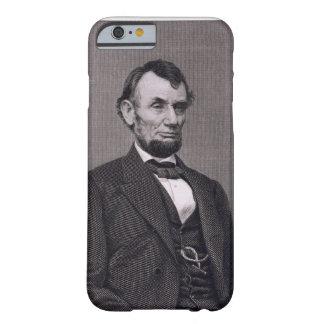 Abraham Lincoln, grabado de una fotografía cerca Funda Barely There iPhone 6