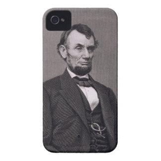Abraham Lincoln, grabado de una fotografía cerca l Case-Mate iPhone 4 Cárcasa