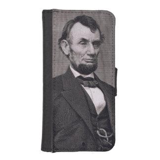 Abraham Lincoln, grabado de una fotografía cerca l Fundas Cartera De iPhone 5