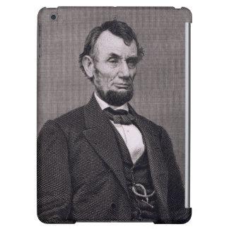 Abraham Lincoln, grabado de una fotografía cerca l