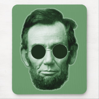 Abraham Lincoln - Green Mouse Pad