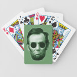 Abraham Lincoln - Green Playing Cards