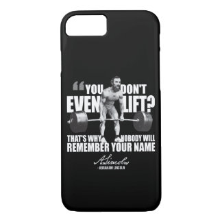 Abraham Lincoln Gym Humor - Do You Even Lift? iPhone 8/7 Case