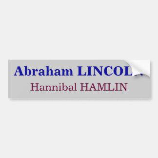 Abraham Lincoln, Hannibal Hamlin Pegatina Para Auto