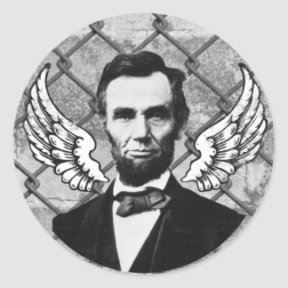 Abraham Lincoln Has Wings Classic Round Sticker