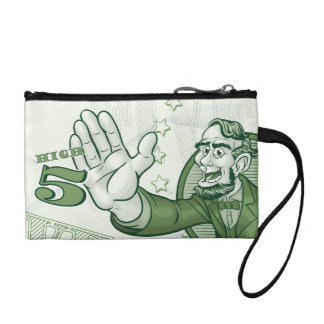 Abraham Lincoln High Five Change Purse
