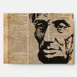 Abraham Lincoln Historical Vintage Dictionary Art Envelope