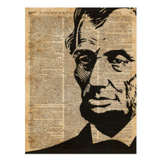 Abraham Lincoln Historical Vintage Dictionary Art Postcard