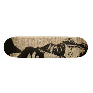 Abraham Lincoln Historical Vintage Dictionary Art Skateboard