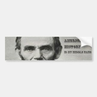 Abraham Lincoln History Buff Sticker Car Bumper Sticker