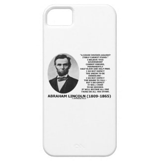 Abraham Lincoln House Divided Cannot Stand Quote iPhone 5 Covers