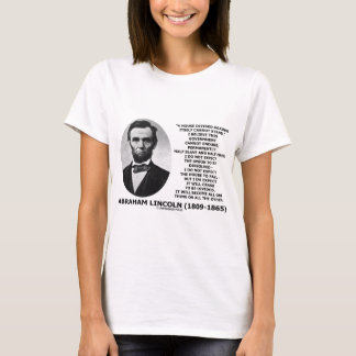 Abraham Lincoln House Divided Cannot Stand Quote T-Shirt