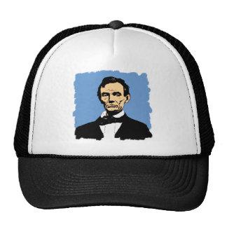Abraham Lincoln Illustration on Blue Trucker Hat