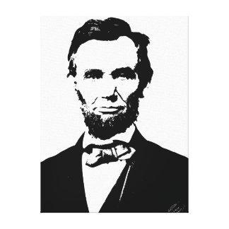 Abraham Lincoln Impresiones En Lona Estiradas