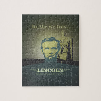 Abraham Lincoln, In Abe we Trust Jigsaw Puzzle