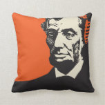 Abraham Lincoln in headphones Pillow