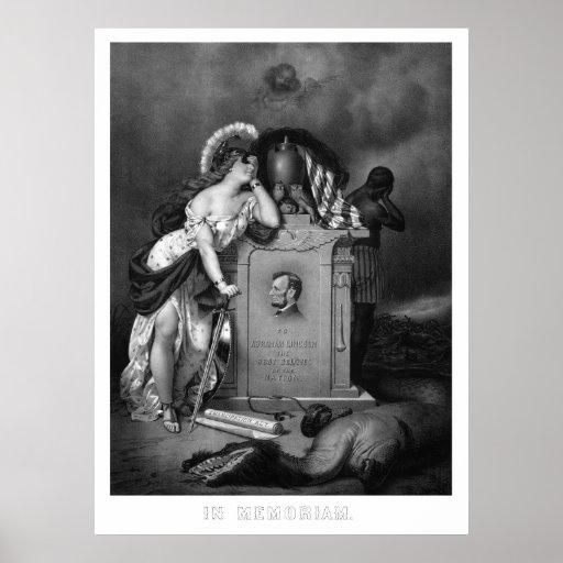 Abraham Lincoln -- In Memoriam Print