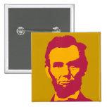 Abraham Lincoln in Orange & Red 2 Inch Square Button