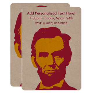 Abraham Lincoln in Orange & Red Card