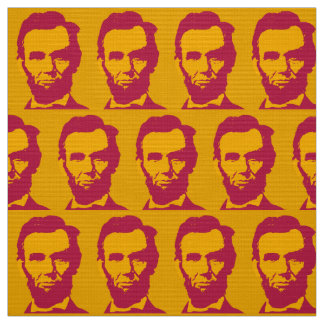 Abraham Lincoln in Orange & Red Fabric