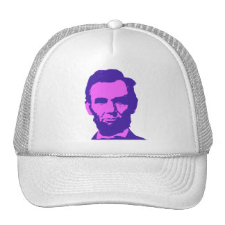 Abraham Lincoln in Pink & Purple Hat