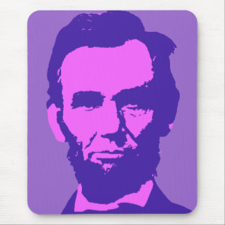 Abraham Lincoln in Pink & Purple Mouse Pad