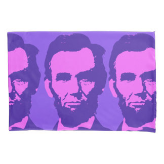 Abraham Lincoln in Pink & Purple Pillowcase