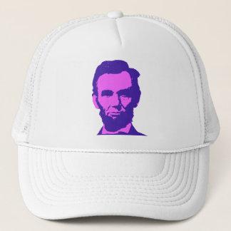 Abraham Lincoln in Pink & Purple Trucker Hat