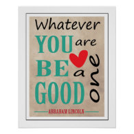 Abraham Lincoln Inspirational Quote Typography Poster