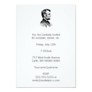 Abraham Lincoln Invitación 12,7 X 17,8 Cm