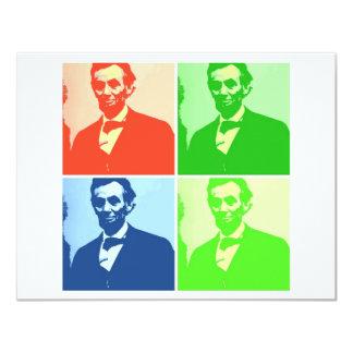 """Abraham Lincoln Invitación 4.25"""" X 5.5"""""""
