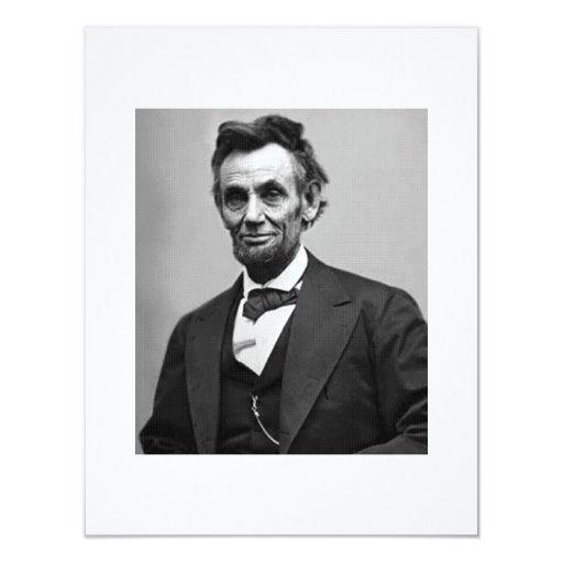 Abraham Lincoln Invitación 10,8 X 13,9 Cm